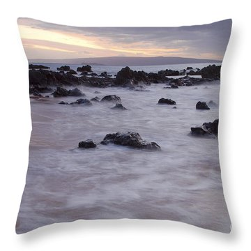 Keawakapu Tropical Nights Throw Pillow by Sharon Mau