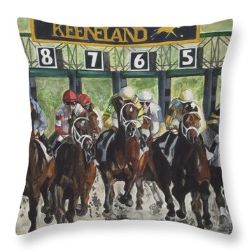 Keeneland Throw Pillow