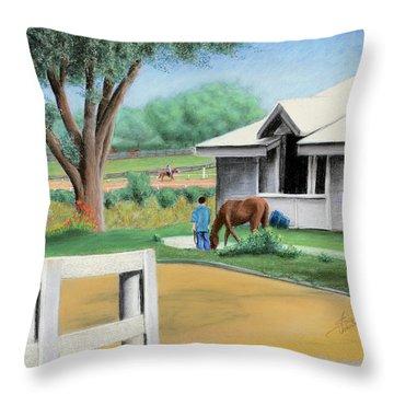 Keenland Paddock Throw Pillow