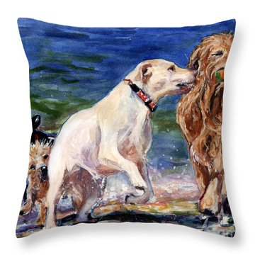 Keep Away Throw Pillow by Molly Poole