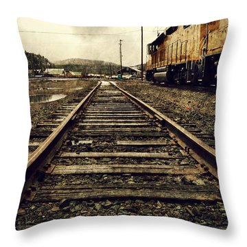 Keep Going Throw Pillow by Leah Moore