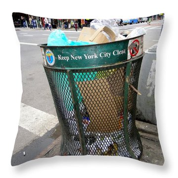 Keep Nyc Clean Throw Pillow by Ed Weidman