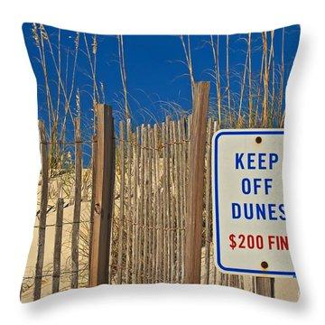 Keep Off Dunes Throw Pillow