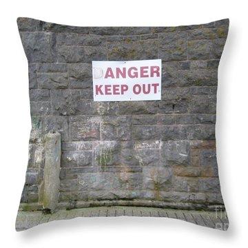 Keep Out Aran Islands Ireland Throw Pillow