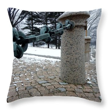 Throw Pillow featuring the photograph Keep Out by Michael Porchik