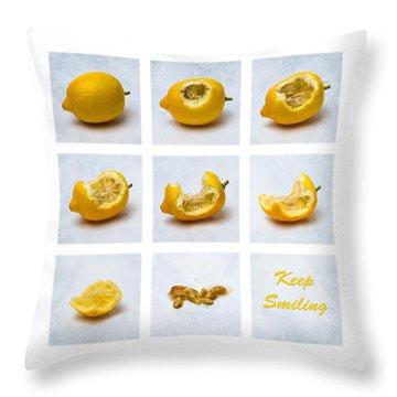 Keep Smiling Throw Pillow by Alexander Senin