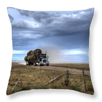 Keep Those Hay Bales Rolling Throw Pillow
