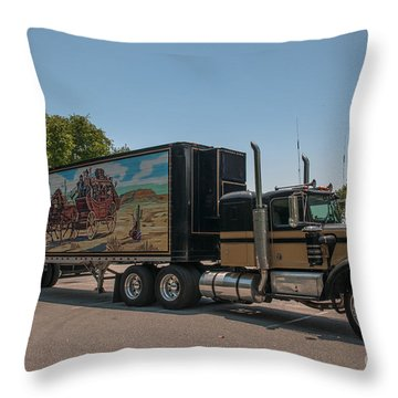 Keep Those Wheels A Truckin Throw Pillow