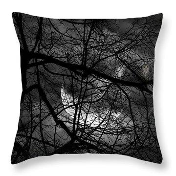 Keeper Of Spirits Throw Pillow by Lourry Legarde