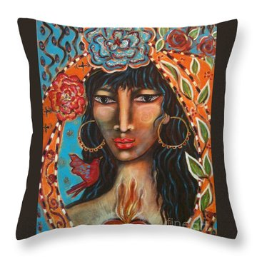 Keeper Of The Flame Throw Pillow by Maya Telford