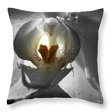 Keeper Of The Light Bw Throw Pillow