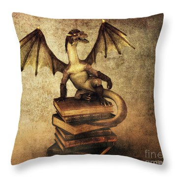 Keeper Of Wisdom Throw Pillow by Jutta Maria Pusl