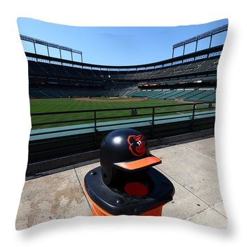 Keeping Oriole Park Tidy Throw Pillow