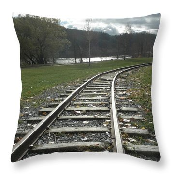 Keeping Track Throw Pillow