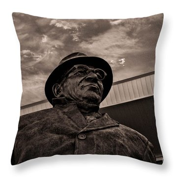 Keeping Watch Bw Throw Pillow by Tommy Anderson