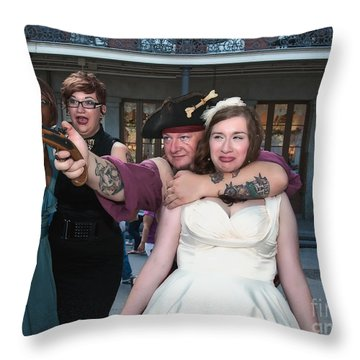 Keira's Destination Wedding - The Pirate Part Throw Pillow by Kathleen K Parker