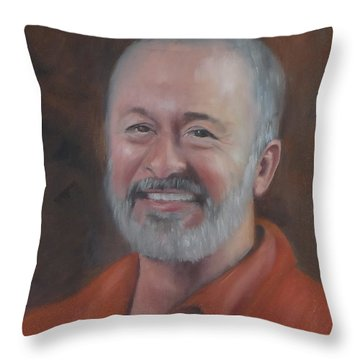 Throw Pillow featuring the painting Keith by Carol Berning