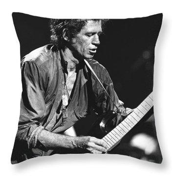 Keith Richards Throw Pillow