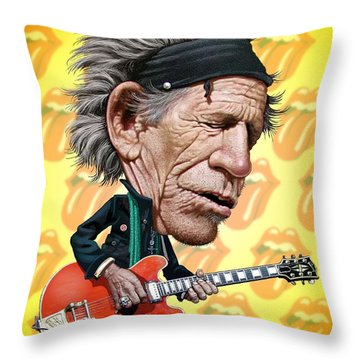Keith Richards Throw Pillow