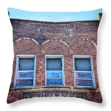 Keith Theater Throw Pillow