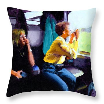 Kelly And Pj In The Austrian Alps Throw Pillow by Douglas Simonson
