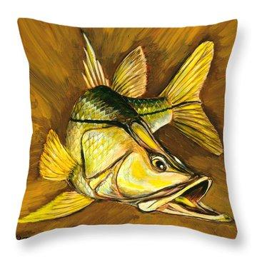 Kelly B's Snook Throw Pillow