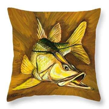 Kelly B's Snook Throw Pillow