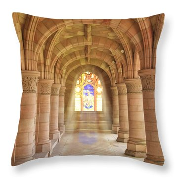 Kelso Abbey Stained Glass Throw Pillow