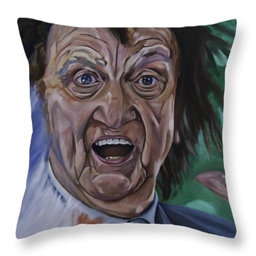 Ken Dodd Throw Pillow