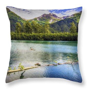 Kenai Alaska Lake Throw Pillow