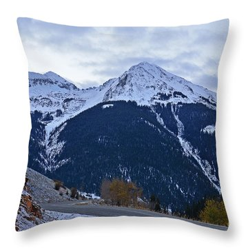Kendall Mountain Morning Throw Pillow