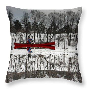 Kennebec Reflection Throw Pillow