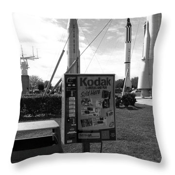 Kennedy Space Center Cape Canaveral Throw Pillow