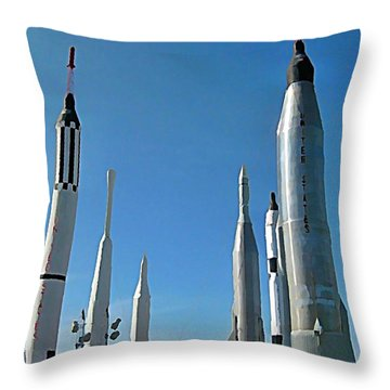Kennedy Space Centre In Florida Throw Pillow by John Malone