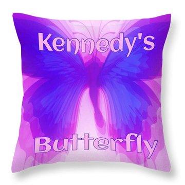 Throw Pillow featuring the photograph Kennedys Butterfly by Gayle Price Thomas
