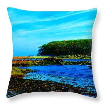 Throw Pillow featuring the photograph Kennepunkport Vaughn Island  by Tom Jelen