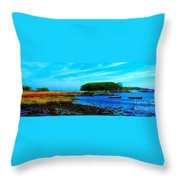 Kennebunkport  Vaughn Island  Throw Pillow