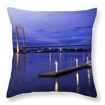Throw Pillow featuring the photograph Kennewick Bridge 2 by Sonya Lang