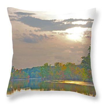 Kensington Autumn Sunset Throw Pillow