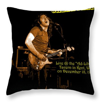Kent #14 Enhanced In Amber With Text Throw Pillow