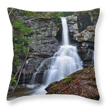 Kent Falls State Park Ct Waterfall Throw Pillow
