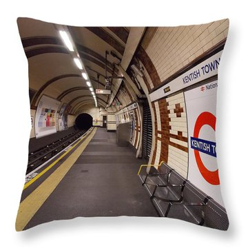 Kentish Town Tube Station Throw Pillow