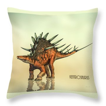 Kentrosaurus Dinosaur Throw Pillow by Bob Orsillo