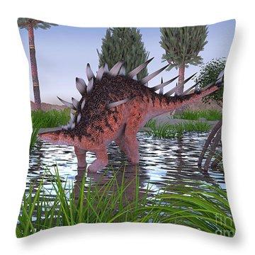 Kentrosaurus Throw Pillow