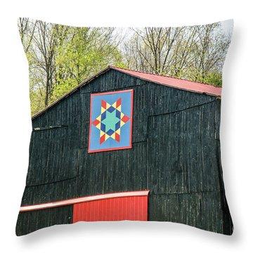 Kentucky Barn Quilt - 2 Throw Pillow