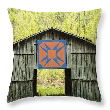 Kentucky Barn Quilt - Happy Hunting Ground Throw Pillow