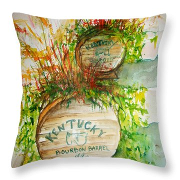 Kentucky Bourbon Barrels Throw Pillow