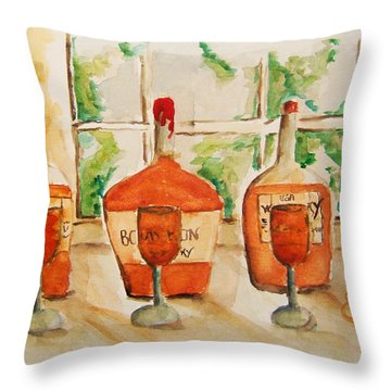 Kentucky Bourbon Sampler Throw Pillow