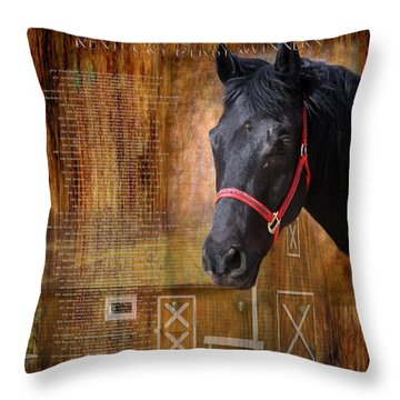 Kentucky Derby Winners Throw Pillow