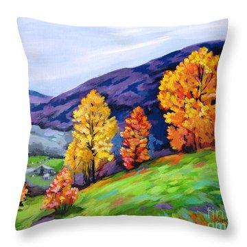 Kentucky Hillside Throw Pillow
